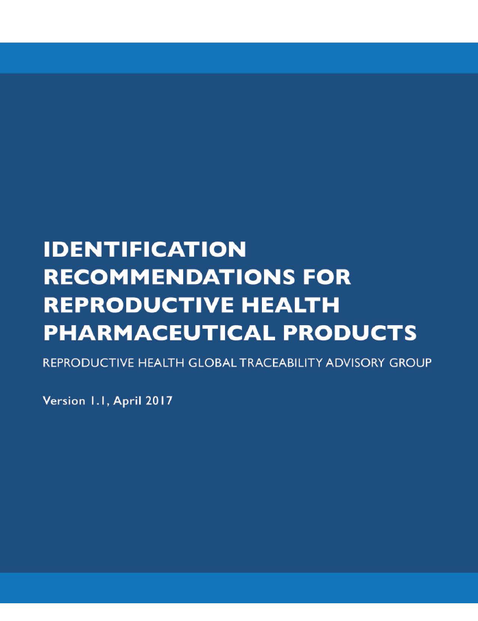 Identification Recommendations for Reproductive Health Pharmaceutical Products Cover Image