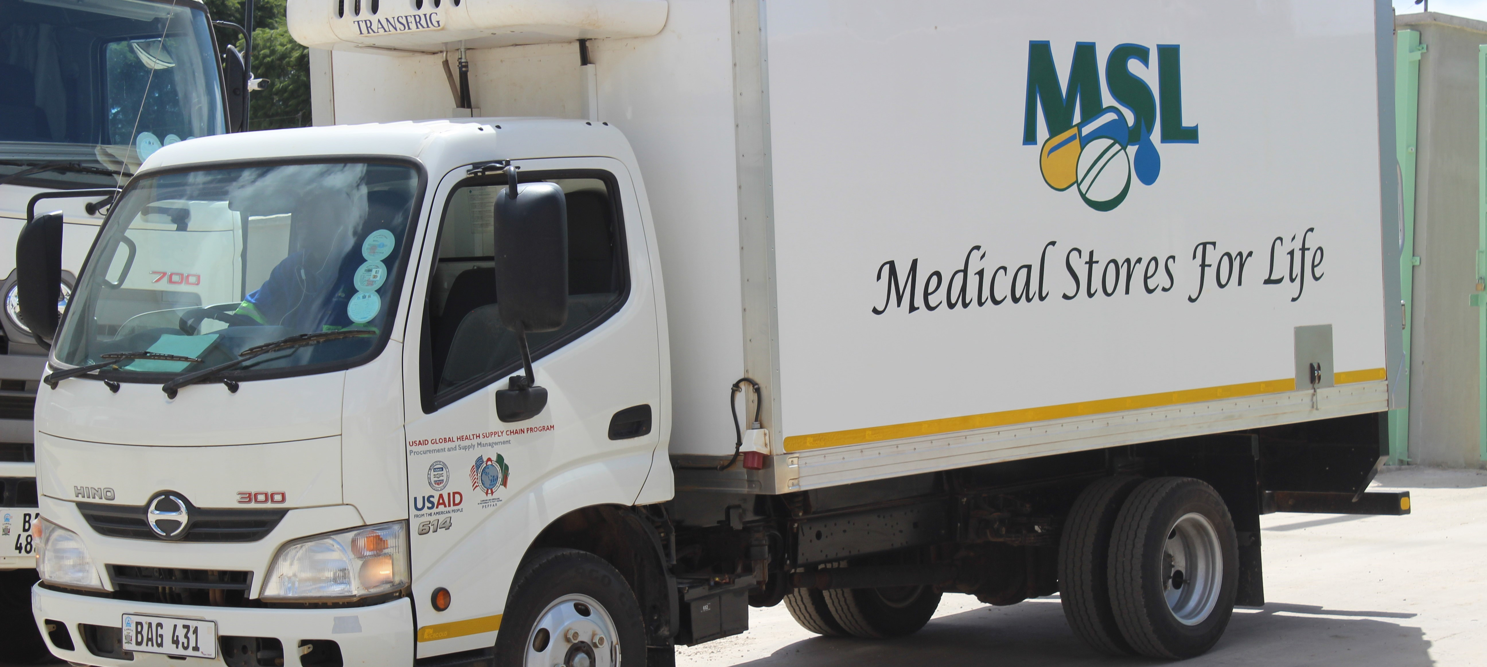 PEPFAR donated three refrigerated trucks like this to help Medical Stores Limited deliver cold-chain laboratory supplies to laboratories sites in Zambia.