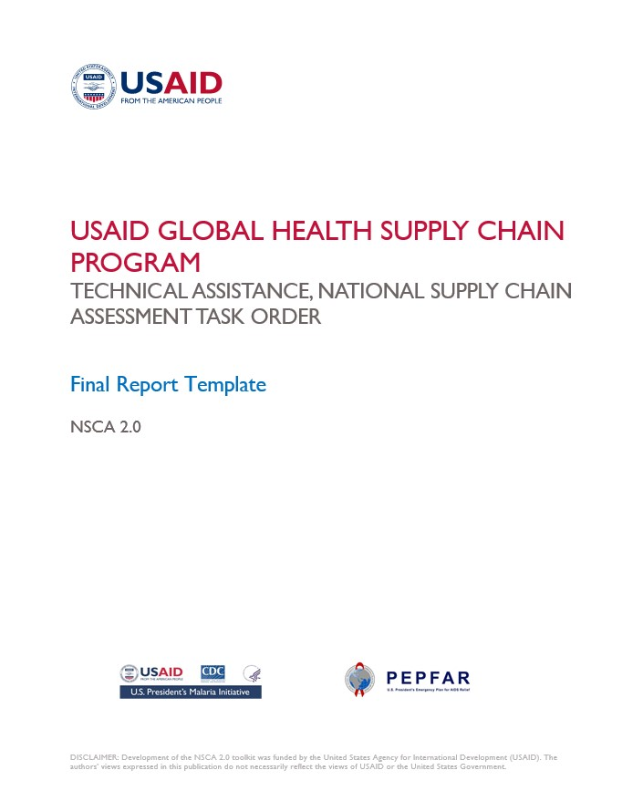NSCA Final Report Template | USAID Global Health Supply