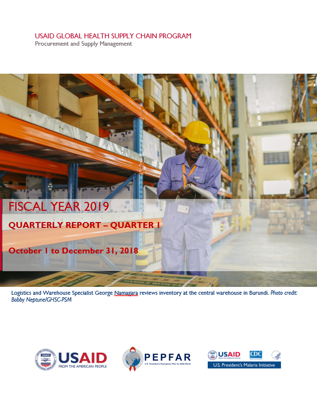GHSC-PSM Quarterly Report FY 2019 Q1