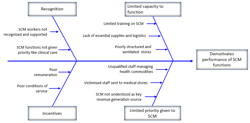 Figure 2: Factors affecting the performance of SCM functions in the Northern region
