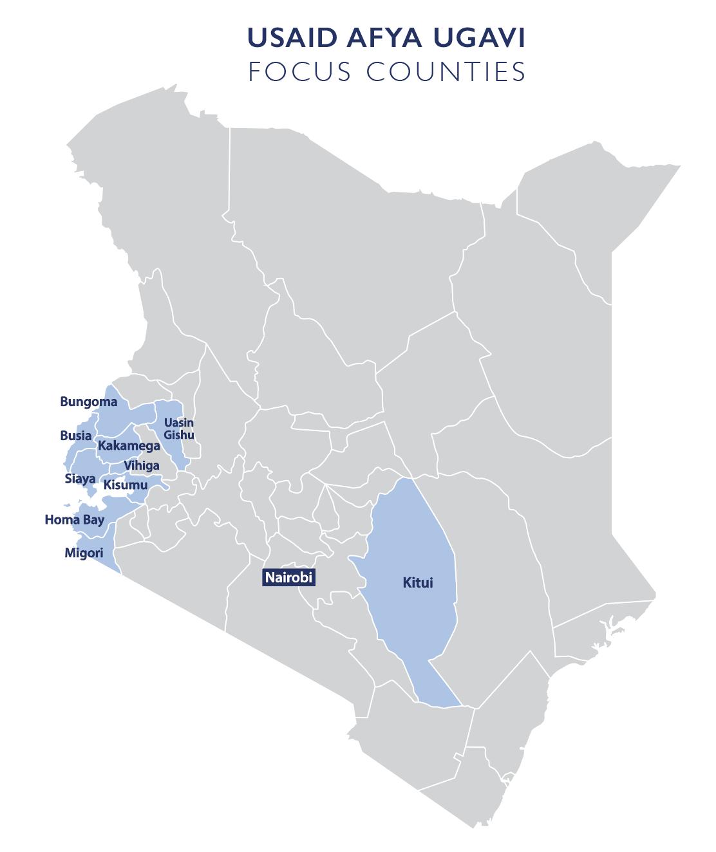Afya Ugavi Focus Counties