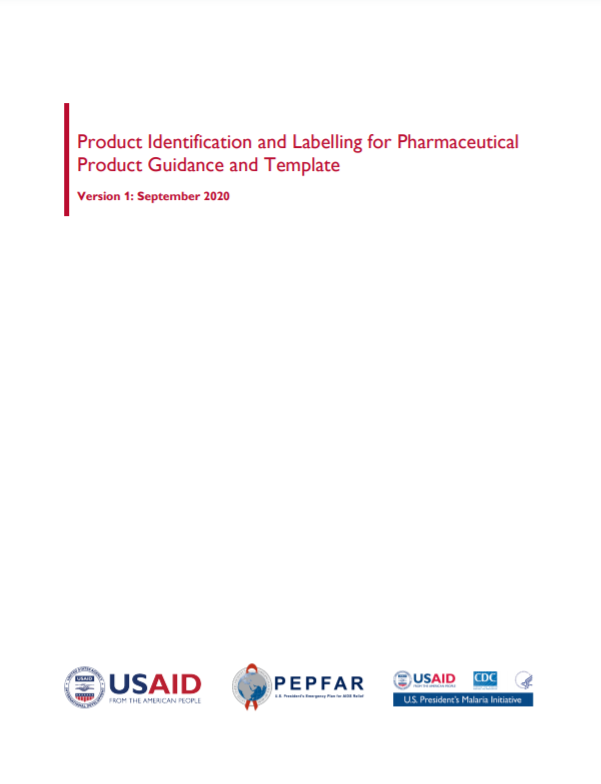 Guidance and Template for Product Identification and Labelling for Pharmaceutical Products Cover Image
