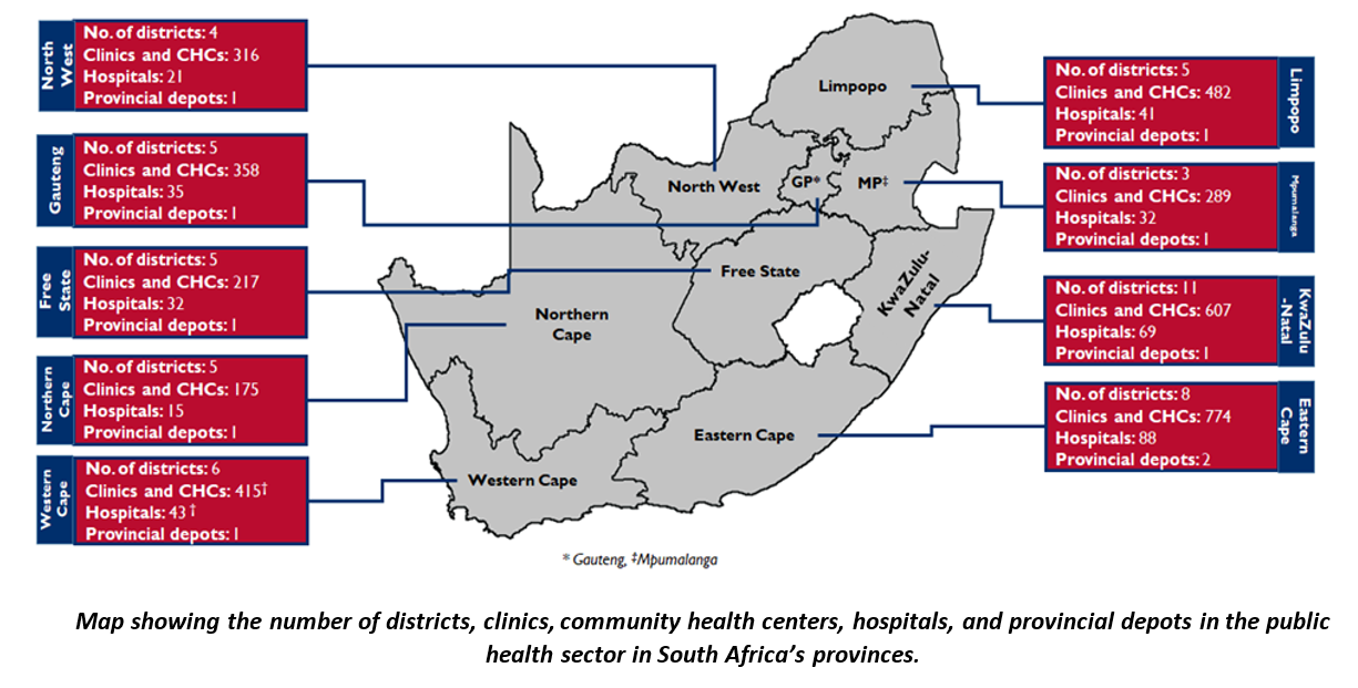 GHSC-TA South Africa Map