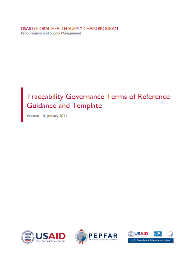 Governance Terms of Reference Guidance and Template Cover Page