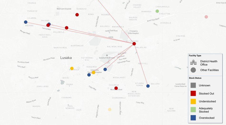 Lusaka RDT map