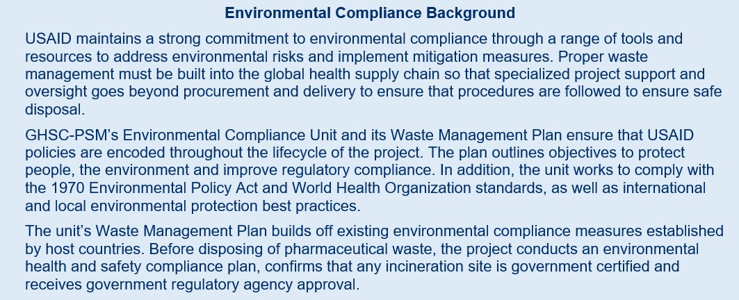 environmental compliance background text box