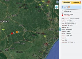 GPS tracking of PPE delivery in Mozambique